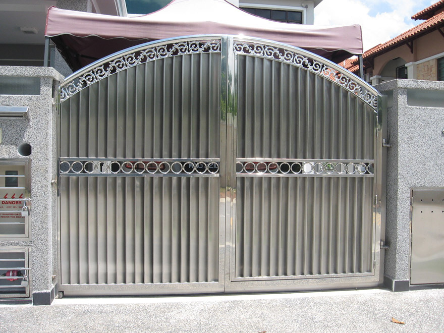 Steel main gate design sliding gate design simple for Main gate door design