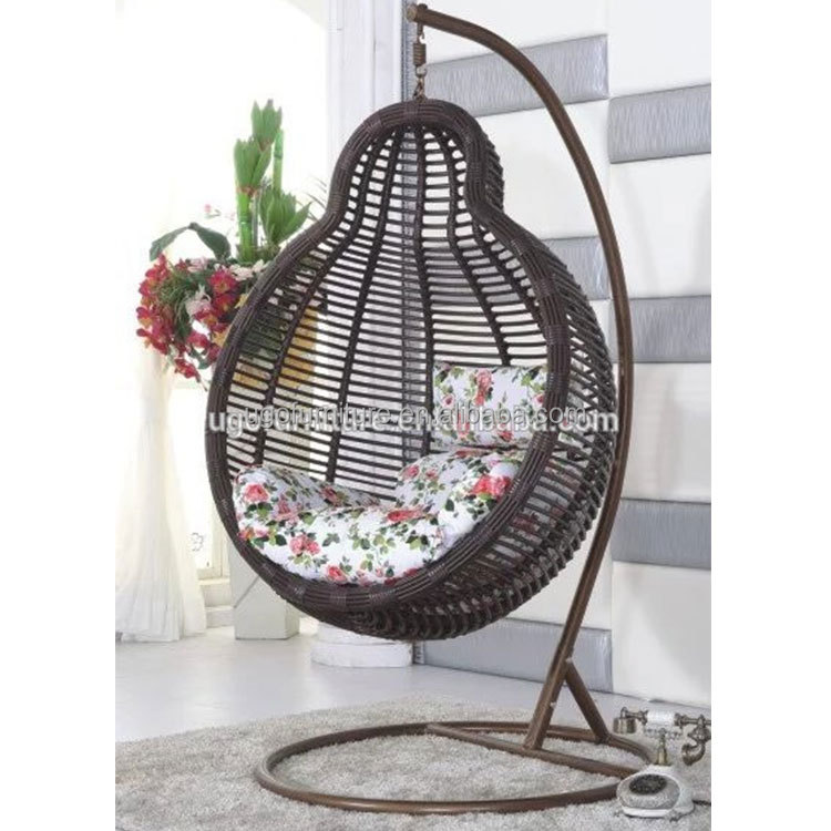 Cheap outdoor furniture rattan swing set wicker hanging chair
