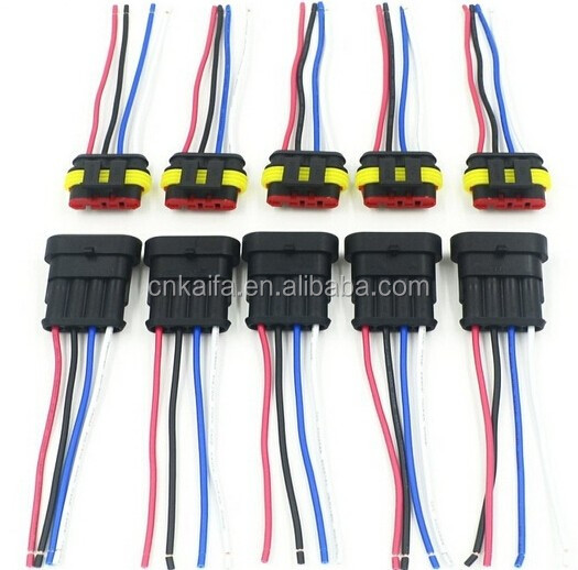 4 Pin Amp Sual Wire Harness Connector Pigtail For Car Lamp - Buy 4  Pin Wire Harness Pigtail on