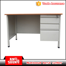 top quality modern furniture metal frame office desk with drawer