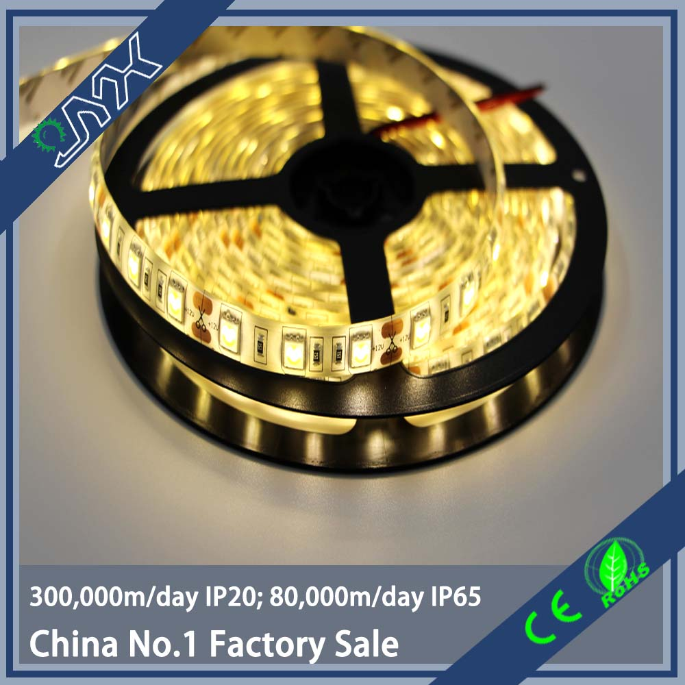 12Vor 24V SMD5050 300LED/Roll 5m Warm White IP65 LED Flexible Strip Light with CE RoHS CCC Certifications