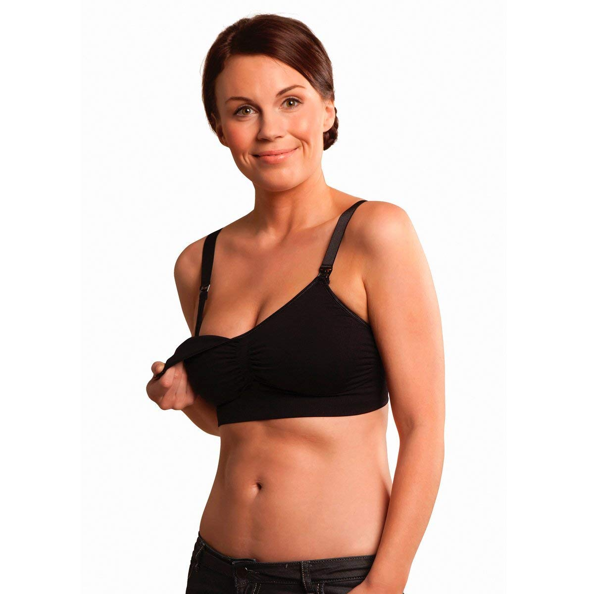 96317ef2675bb Get Quotations · Carriwell Seamless Padded Maternity And Nursing T Shirt Bra