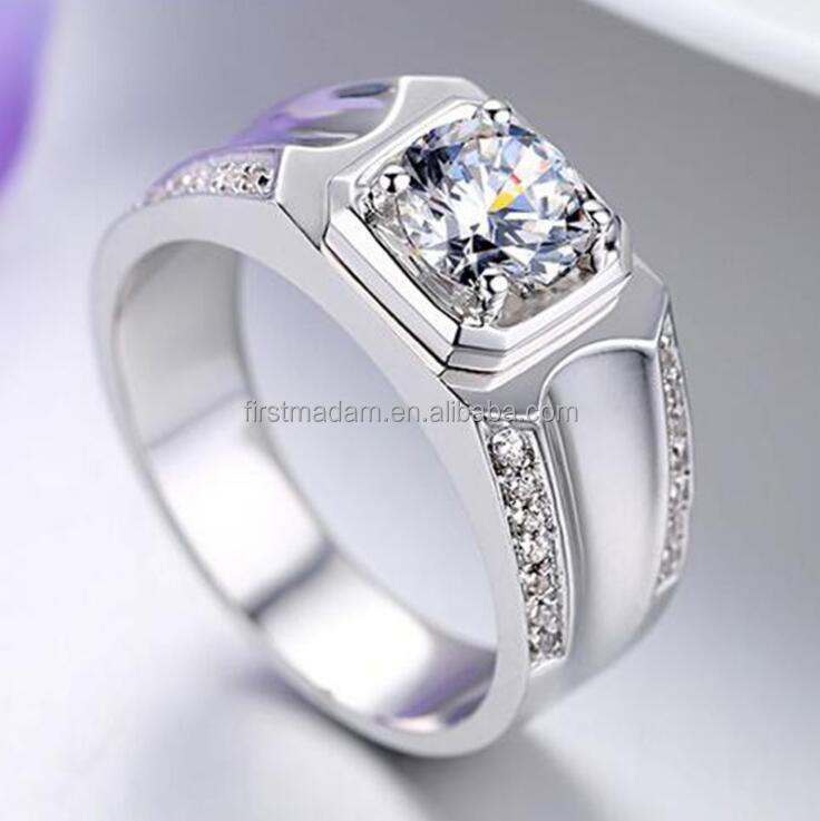 2017 Wedding Bands 925 Sterling Silver 14k Gold 1 Carat Diamond Jewelry Ring