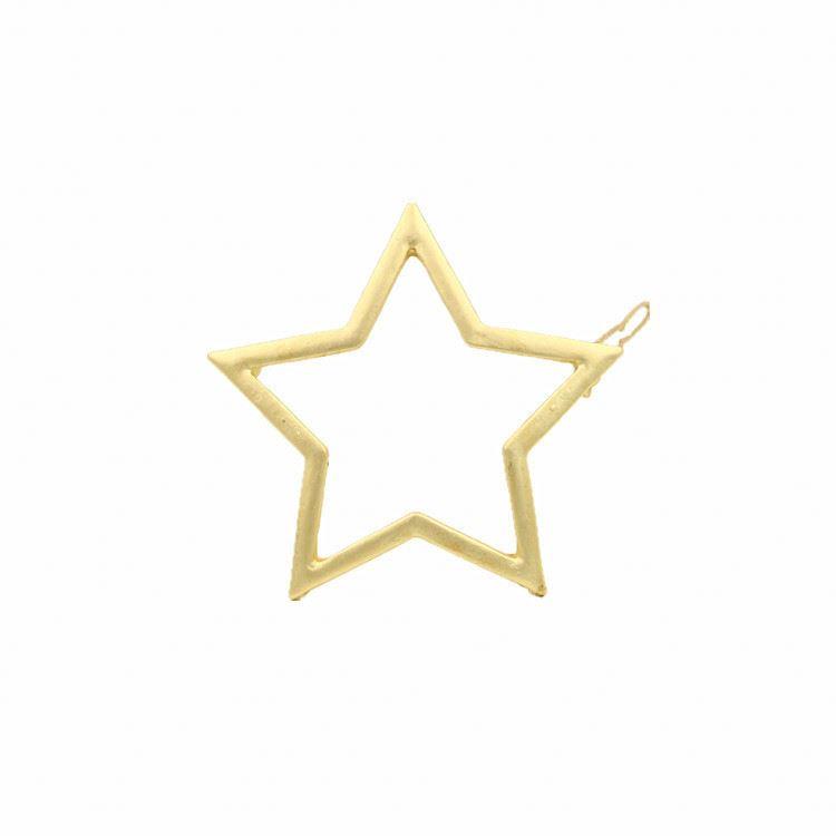 Damen Gold Stern Herz Haarspange Haarnadel Bobby Pin Schmuck Berühmt Mädchen