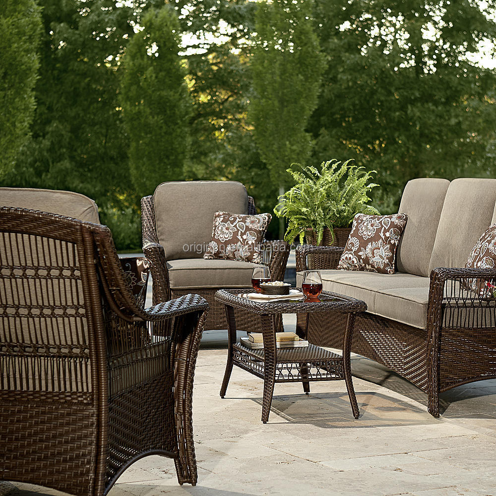 Cheap rattan armchairs with loveseat and coffee table bali rattan outdoor furniture