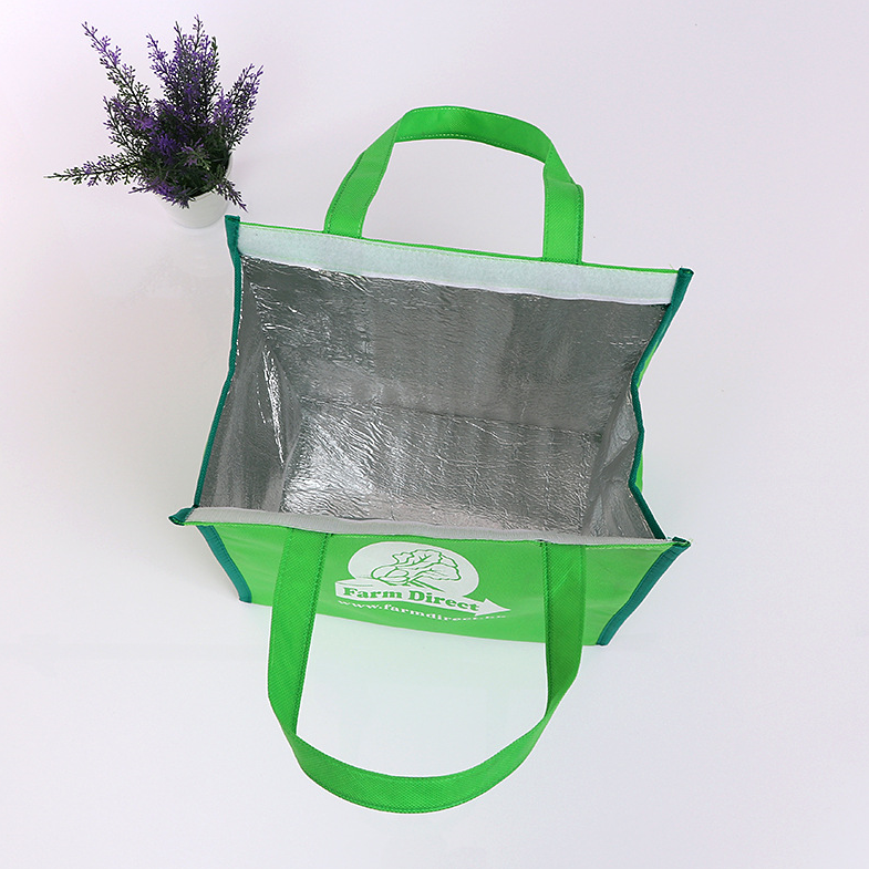 Top quality non woven custom insulated aluminium foil lunch cooler bag
