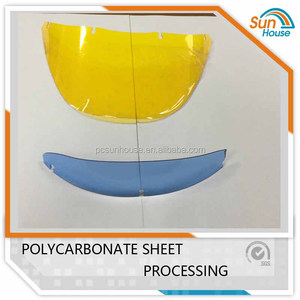 Polycarbonate face guard 100% transparent