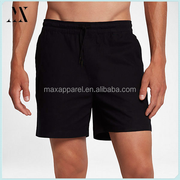 100%cotton Men Beach Shorts Front pocket and a back welt pocket Board Shorts Men new design adjustable waistband Bathing suit