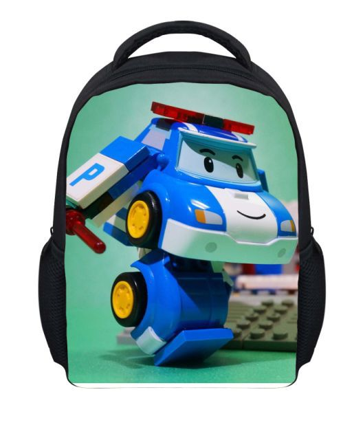 e6582809f960 Get Quotations · 12    Small Children School Bags Fireman Sam Robocar Pol Book  Bags For Boys Fashion