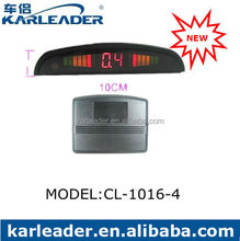 4 Ultrasonic Sensors LED display Distance Alarm Car K2 Radar Detector for Reversing System