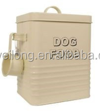Enamel Pet Food/candy Box/coffee Sugar Tea With Scoop Galvanized ...