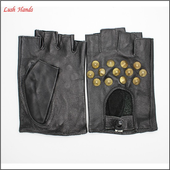 leather gloves without finger handmade leather fingerless driving gloves