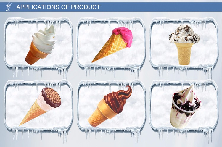 BQL-825B wholesale best price 3 nozzles ice cream soft machine