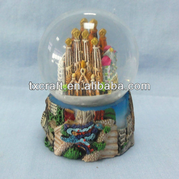 Souvenir polyresin craft--snow globe--45MM