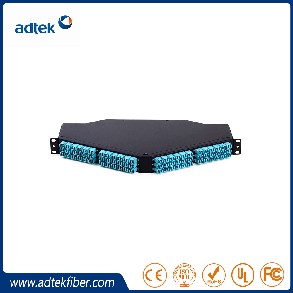 Fiber Optic 19'' 1U 144 96 cores Premium Sliding patch panel