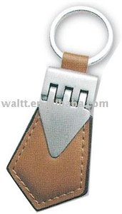 Customs logo Leather Keychains