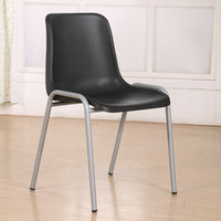 Stackable and colorlul living room chair metal frame with chromed dining chair