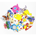 43Pcs Set Anime Pokemon Waterproof Laptop Car Stickers For Trunk Skateboard Guitar Fridge Decal Toy Stickers