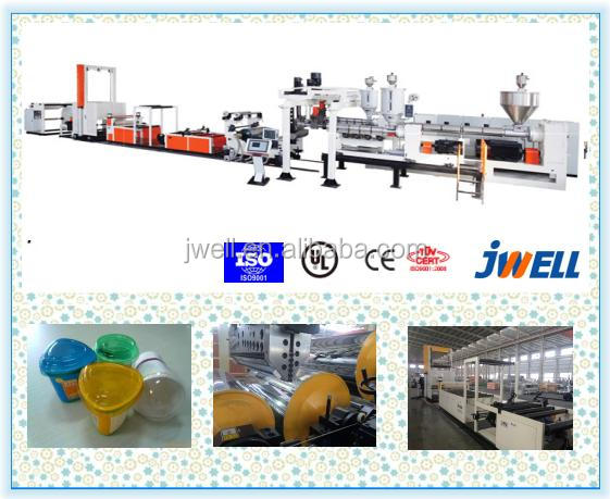 JWELL - Multi function high productivity thermoforming sheets making plant