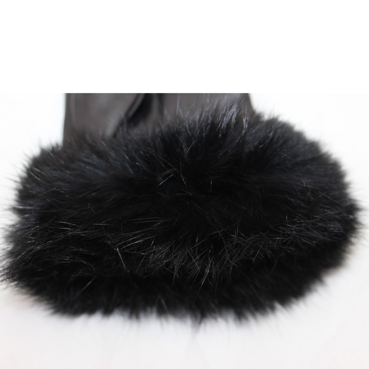 New style high wearing importers real fur fashion women leather gloves
