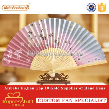 Chinese Folding Silk Fan Bamboo Fans For Advertisement