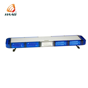 E Mark R65 warning light bar blue led for police vehicles