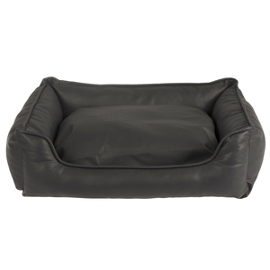 china wholesale manufacturer PU Leather Dog Sofa Pet Bed in Black
