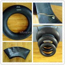 DAYANGZHOU factory good quality large tire 1000R20 butyl inner tube 10.00-20 truck tube and flaps