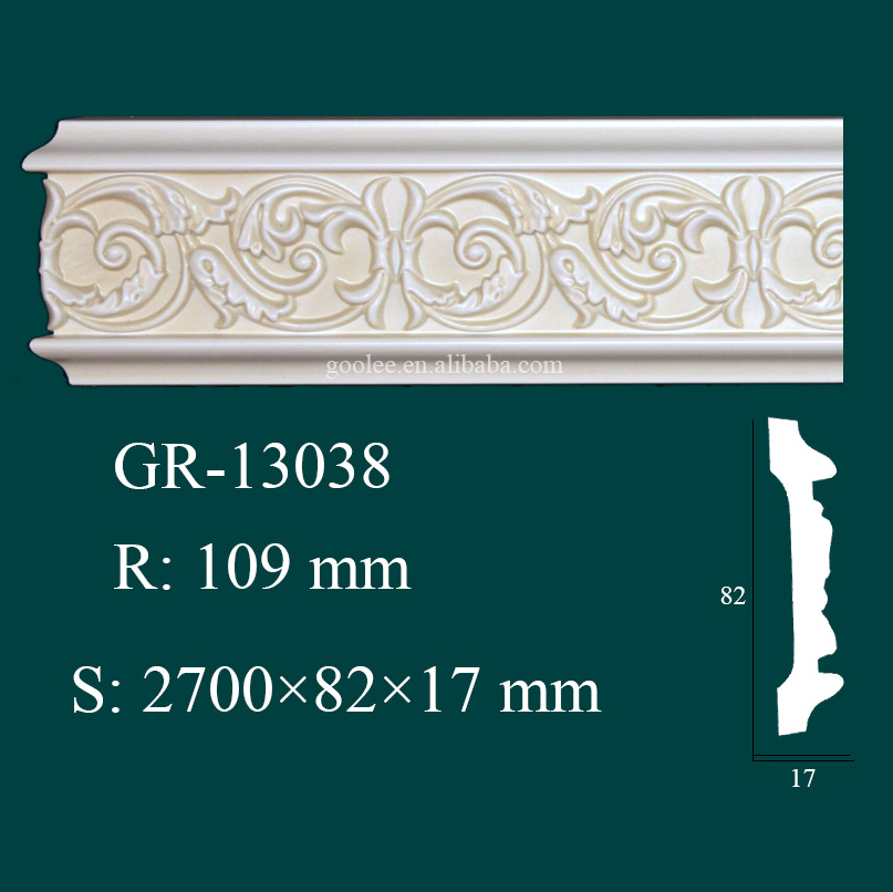 construction material Polyurethane crown molding foam for home interior decor