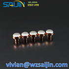 Silver Contact Electrical Silver and Copper Alloy Electrical Bimetal Contact Points with High Electrical Conductivity
