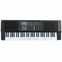 black 61 key plastic electronic keyboard toy