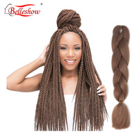 Belleshow 24inch 41inch 82inch Ombre Braiding Hair Extensions Synthetic crochet hair crochet braid hair jumbo braids