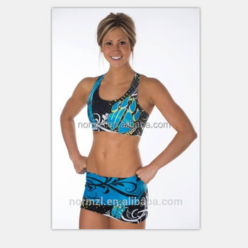 dry fit sexy cheerleader costume with plus size sublimated