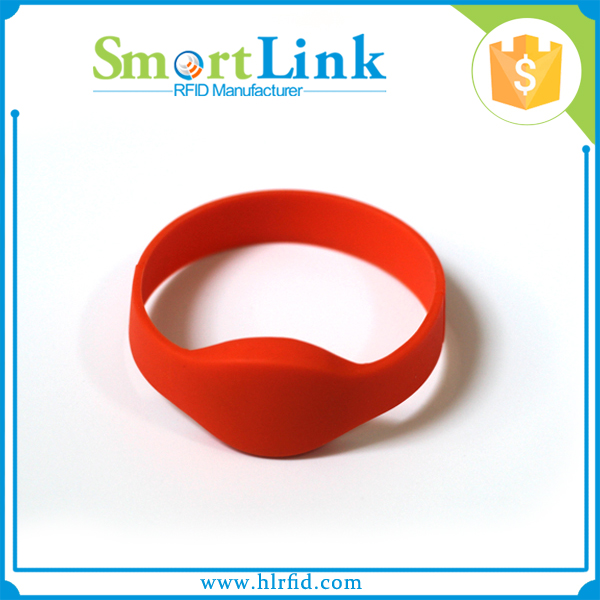 wholesale rfid 13.56Mhz silicon elastic bracelet,rfid rewritable nfc wristband/watches for keyless entry system