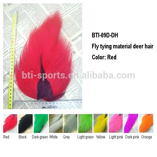 Red color Fly tying material Bucktail for tying