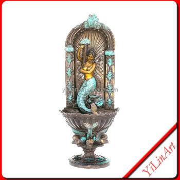 Bronze Nude Mermaid Wall Fountain Sculpture Yl-k124 - Buy