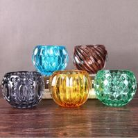 Haonai Glass tealight candle holder / glass gift items cheap crystal vase.
