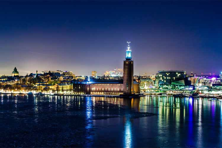 Best Selling 2015 Sweden Stockholm Winter Night Wall Decals Art Poster Custom Home Decor