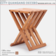 Chinese style garden furniture bamboo folding wood chair