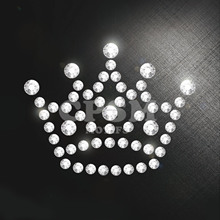 Strass Hotfix Trasferimento <span class=keywords><strong>di</strong></span> Ferro Su Cristallo Gemma Fashion Crown Design motif