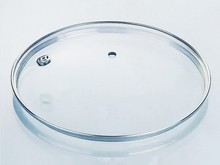 round tempered glass lid for pan with stainless steel ring