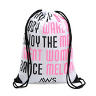 Custom Logo Waterproof 210D Polyester Promotional Drawstring Backpack