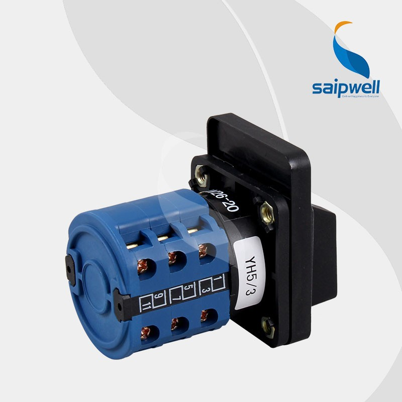 SAIP/SAIPWELL 20A 3 Layers Voltmeter Waterproof Rotary Switch