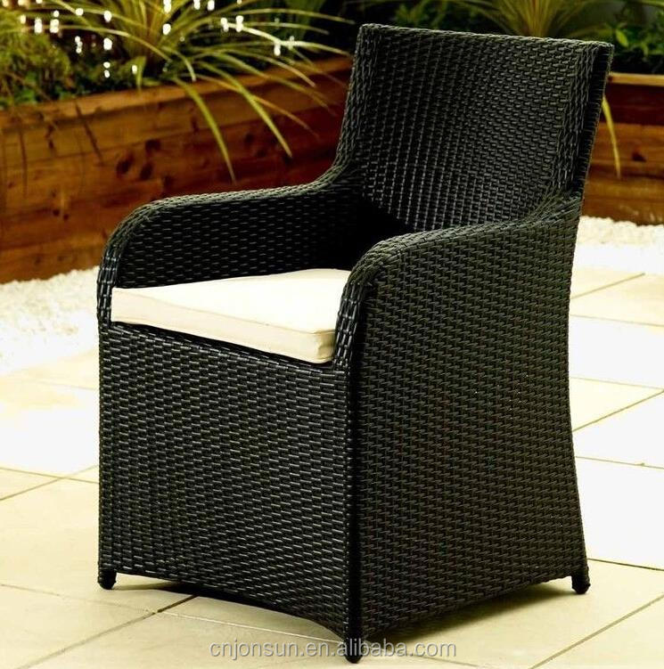 Outdoor unique creative design square round table and rattan chairs garden furniture