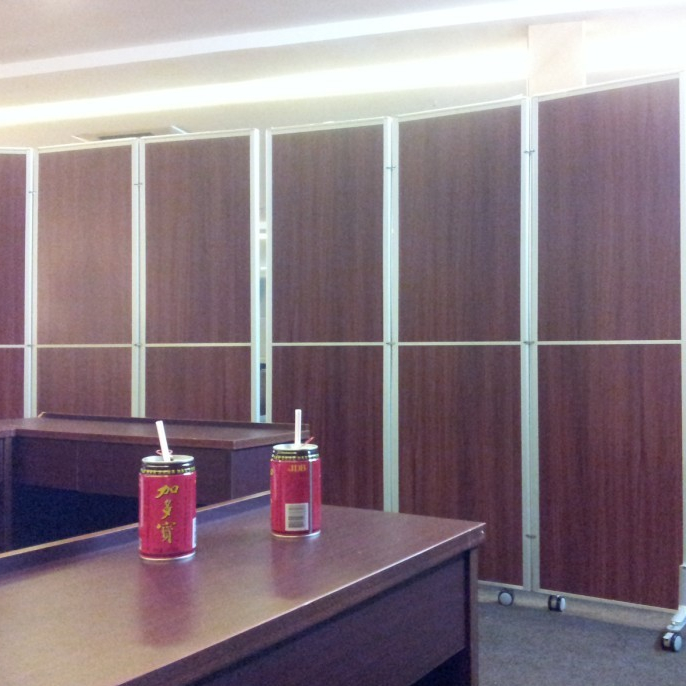 Folding Screen Office Room Division Divider Wooden Straightening Interior Screen Partition On Wheels For Room Separation