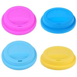 Anti-Dust Reusable Silicone Lids for Tea Water Coffee Cup Leak proof Cover