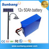 Customized 15ah 30ah 50ah 70ah high quality rechargeable lithium ion 12v solar street light battery with samsung cells