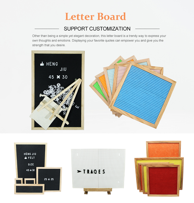 Wholesale Custom Felt Light Letter Board Whiteboard