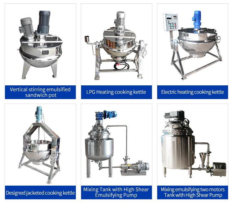 multifunktionaler Kochmantel für Kochfelder mit Rührwerk, andere Maschinen für die Lebensmittelverarbeitung
