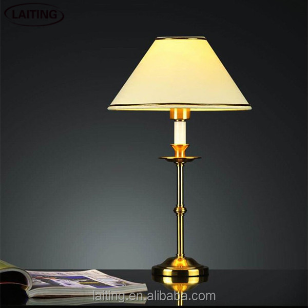 Office antique gold desk lamp battery operated 2261